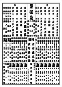 大相撲番付表